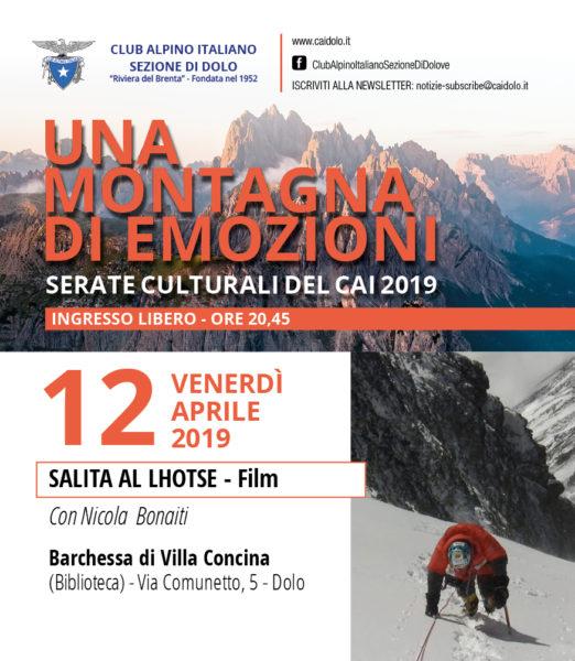 Salita al Lhotse di Nicola Bonaiti - 12/04/2019 @ Barchessa di Villa Concina  Dolo