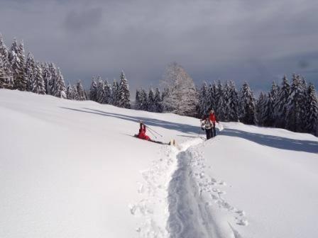 Momento durante la gita al monte Erio del precedente corso - Foto di Lorenza Picin