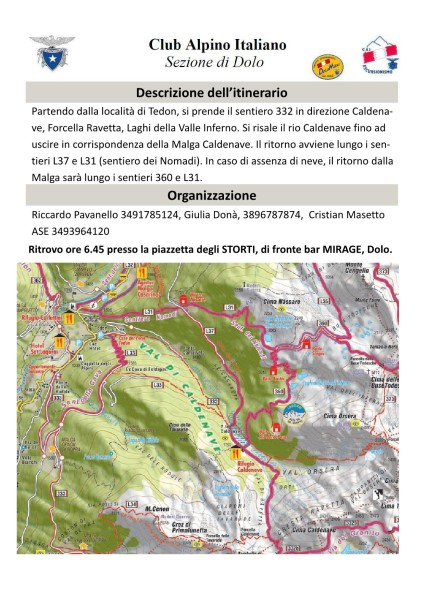 Escursione del 12.02.17 - Malga Caldenave dalla Val Campelle