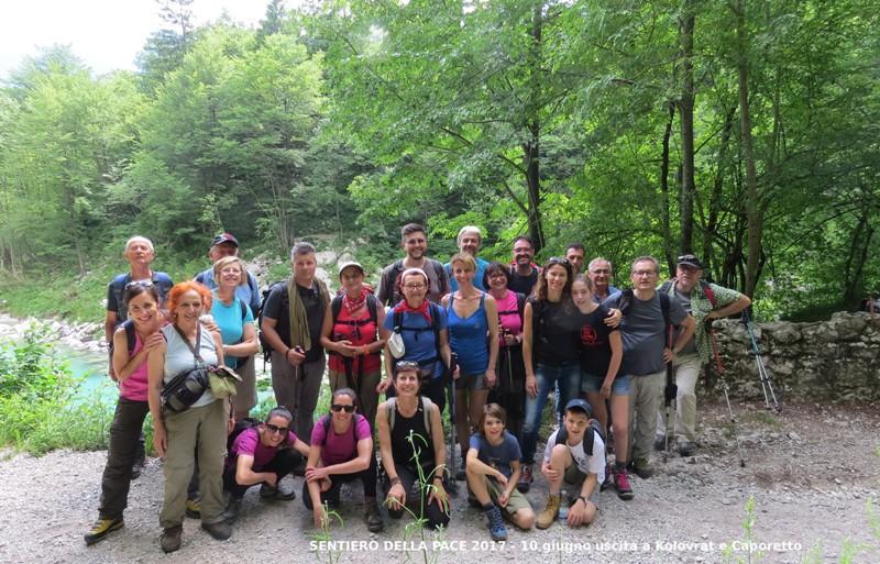 12 Sentiero della Pace 2017 Kolovrat-Caporetto Gruppo