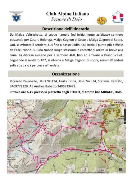 Monte Croce da Val Calamento - Uscita del 26/06/2016 - 2