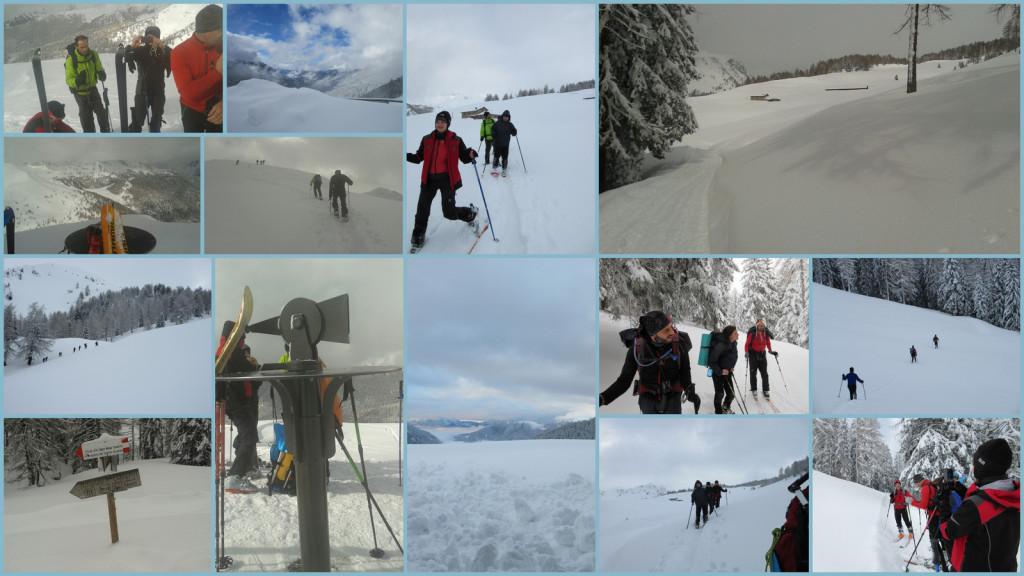Val Campelle uscita invernale - Collage per Scuola di Alpinismo