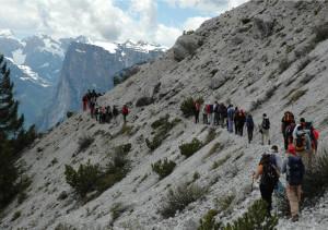 Sentiero che da passo Duràn va verso forcella Moschesin - foto Gabriele Zampieri
