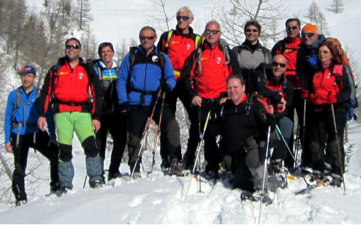 Membri della scuola di escursionismo