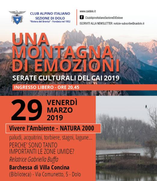 NATURA 2000 SIC E ZPS delle zone UMIDE - Gabriella Buffa - 29/03/2019 @ Barchessa di Villa Concina - Dolo