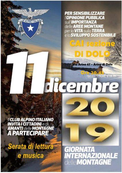 Giornata internazionale della Montagna 11_12_2019 @ Sede CAI sezione di Dolo