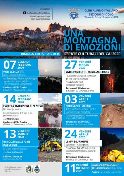 Serate culturali Una Montagna di Emozioni 2020